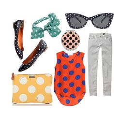 polka dotz, created by athensstreetstyle on Polyvore