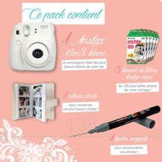 Box mariage Instax Mini 8 - Appareil photo instantané   Boutique Fujifilm