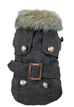 Evergreens Eu Style Gray Pet Dogs Winter Coat (L)