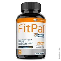 FitPal™ Natural Thermogenic Fat Burner – Energy and Metabolism Booster - Weight Loss Pills With Green Coffee, Garcinia Cambogia & Raspberry Ketones, Effective Herbal Detox and Appetite Suppressant -- Check out the image by visiting the link. (This is an affiliate link) #KetogenicDietForBeginners