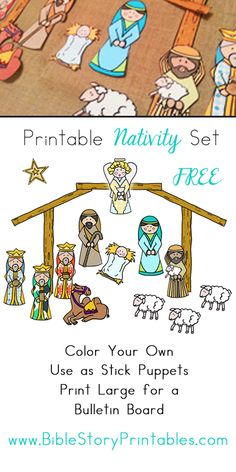 Great to print, cut out, and send these to our kids in Africa! Nativity Printable Play Set