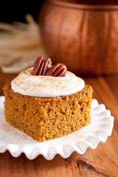 Cooking Classy: Pumpkin Bars with Fluffy Cream Cheese Frosting. A new favorite fall dessert!