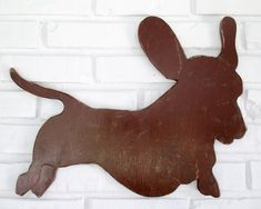 Dachshund Rustic Home Decor Wooden Dachshund Sign Dog Wall Art #5006