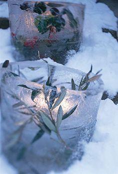 http://www.projectwedding.com/wedding-ideas/diy-winter-wedding-ice-lanterns  ~~Love this idea--saw it years ago and still have not done it!