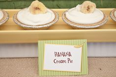 bananas for you, baby! Shower Food - Mini Banana Cream Pies