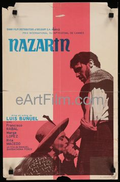 Happy Birthday #LuisBuñuel eartfilm.com/search #directors #directing #filmmaking #filmmakers #screenwriters #screenwriting #Bunuel #film #movies #cinema #movieposters #posters    Nazarin 1962 13.25x21 Belgian Movie Poster Luis Bunuel