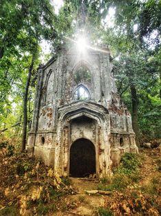 Ruins of abandoned chapel, Sławików, Poland Sri Lanka, Travel Photos, Poland, Abandoned, Cabin, Rock, House Styles, Fotografia, Poster