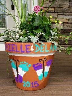 Butterfly footprint flower pot