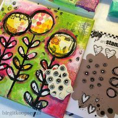 Bloom canvas - zorotte stamp - birgit koopsen