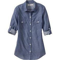 old navy chambray camp shirt - Google Search