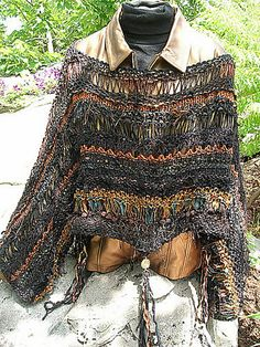 Ravelry: Field of Dreams pattern by Jane Thornley Knitting Stitches, Knitting Designs, Knitting Yarn, Knitting Patterns, Scrap Yarn Crochet, Crochet Poncho, Capes & Ponchos, Creative Knitting, Knit Wrap