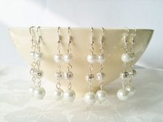 Set of 4 White Pearl & Silver Filigree Bead by InfinityByClaire, £12.00