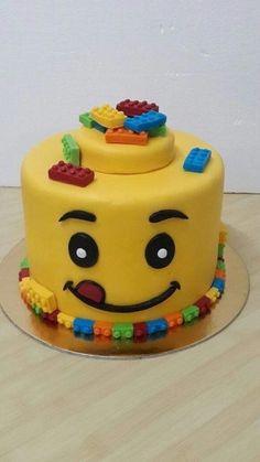 6th Birthday Cakes, Lego Birthday Party, 2 Year Old Birthday Cake, Fondant Cakes, Cupcake Cakes, Lego Cupcakes, Cake 5 Year Old Boy, Lego Torte, Bolo Lego