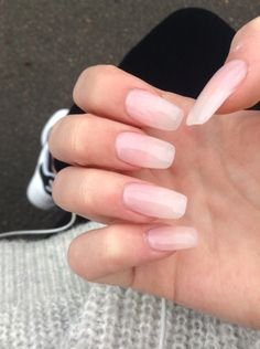 Nude/Clear acrylic ballerina nails
