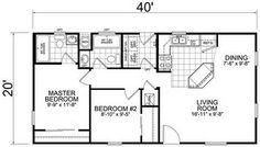 2 Bedroom 20 X 40 Floor House Plans