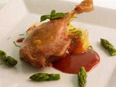 El Petit Chef: Confit de pato con manzanas y salsa de frambuesa