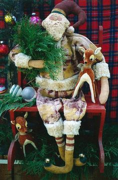 Pattern Epattern Santa Claus Primitive Christmas by Hickety Pickety, $5.00  www.sonjasandell.com