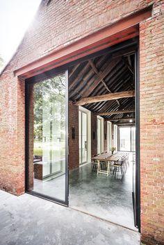Barn Loft, Barn Renovation, Belgian Style, Minimal Home, Windows And Doors, Old Houses, My Dream Home, Home Deco, Future House