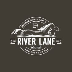 River Lane Ranch - Stylish and unique logo for horse ranch River Lane Ranch is a horse ranch and event venue. We're looking for a masculine and strong logo with a slight modern. Massage Logo, Letterhead Logo, Logo Branding, Unique Logo, Modern Logo, Corporate Design, Western Logo, Show Logo, Farm Logo