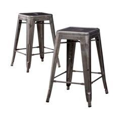 Carlisle Metal Bar Stool - Set of 2 Target $99