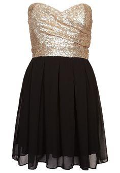 ALIDA - Cocktailkleid / festliches Kleid - gold/black