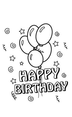 Happy Birthday Coloring Pages Balloons Holiday Club Balloon Bouquet Holidays With Kids Line Drawing For