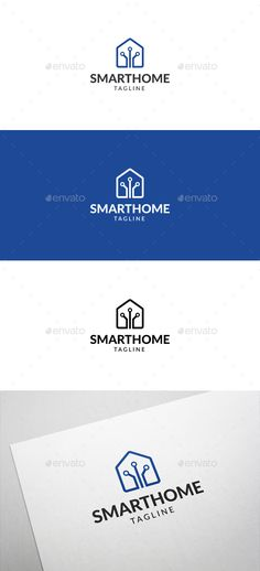 Description Smart Home Logo is a multipurpose logo. This logo can be used by smart home companies, electrical companies, etc.Whats