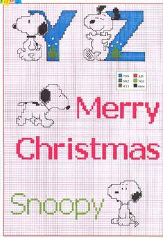alfabeto punto croce charlie brown peanuts (5)