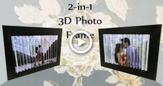 Unique Photo Frames, Handmade Picture Frames, Optical Illusions Pictures, Photo Frame Crafts, Illusion Pictures, Stick Photo, 3d Photo, Card Tutorials, Diy Frame