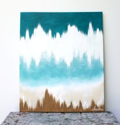 abstract art 20x24 original canvas painting in by letterhappy. $125.00, via Etsy.