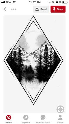 love the diamond with interior/exterior accents. - The Best Geometric Space Tattoos - Planet Tattos Ideas Cute Tattoos, Body Art Tattoos, Tattoos For Guys, Space Tattoos, Tatoos, Wilderness Tattoo, Space Tattoo Sleeve, Natur Tattoos, Forest Tattoos