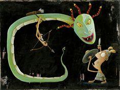 Persée et Méduse Turquoise Necklace, Illustrations, Jewelry, Perseus And Medusa, Posters, Mythology, Jewels, Illustration, Schmuck