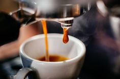 """The process is not a effective, and that is why we end up with questions like """"how much caffeine in decaf espresso coffee. Coffee Break, Morning Coffee, Coffee Cans, Coffee Maker, Buenos Dias Quotes, National Coffee Day, Espresso Shot, Espresso Coffee, How To Order Coffee"""