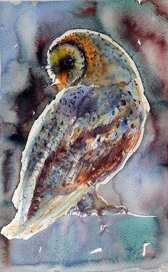 Barn owl at night by Kovács Anna Brigitta