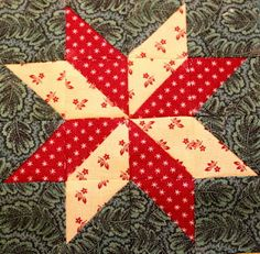 1880's sampler quilt: November 2011, Lemoyne Star