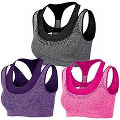 bd69c0b1d0393 BRABIC Women Sport Bras Pads Double Layer High Impact Support Seamless   gt  gt  gt