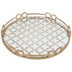 Shop for Metal and Glass 18-inch Tray. Get free delivery at Overstock.com - Your Online Kitchen
