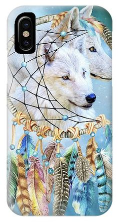 Wolf Dreams phone case featuring the art of Carol Cavalaris. Art Phone Cases, Iphone Cases, Iphone 11, Wolf, Dreams, Prints, Wolves, I Phone Cases, Printmaking