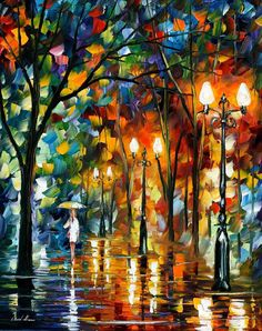 Rain Before Christmas — PALETTE KNIFE Oil Canvas by AfremovArtStudio, $239.00