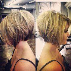 19 Stylish and Eye-Catching Graduated Bob Haircuts - crazyforus Graduated Bob Hairstyles, Bob Hairstyles With Bangs, Short Bob Haircuts, Short Hairstyles For Women, Hairstyles Haircuts, Graduated Haircut, Casual Hairstyles, Layered Haircuts, Medium Hairstyles