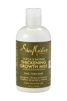 For Thicker Hair: Shea Moisture Thickening Growth Milk