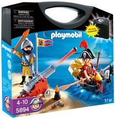 """Playmobil Pirates Carrying Case Playset - Playmobil - Toys""""R""""Us Playmobil Pirates, Playmobil Toys, Childrens Christmas Gifts, Bateau Pirate, Toys R Us Canada, Buy Toys, Activity Toys, Floating In Water, Classic Toys"""
