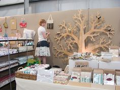 Ink & Spindle stall at the Stitches & Craft Show by birds & trees, via Flickr