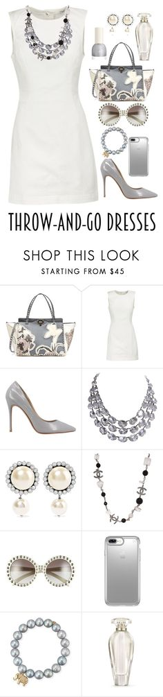 """Silver & White"" by shamrockclover ❤ liked on Polyvore featuring Valentino, T By Alexander Wang, Miu Miu, Chanel, Prada, Speck, Sydney Evan and Victoria's Secret"