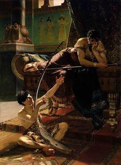 David and Saul, Julius Kronberg, 1885.