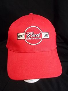 cd12bbf3daa Budweiser Bud Beer Cap Hat Red Snapback Unused
