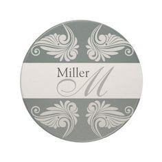 Personalized  Wedding Anniversary #Monogram Drink Coasters