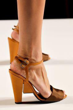 Fendi Spring 2011 mustard/taupe sandals