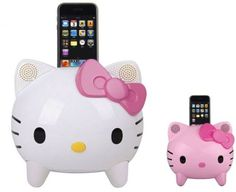 Hello Kitty i-Pod Dock – I don't even have an i-pod and I want one, original white, of course.