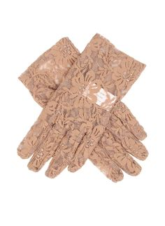 Taupe women's short stretch lace gloves, perfect for understated glamour. Composition: Nylon, Elastane Lining: Unlined Button Length: ½ B/L – These gloves sit below the wrist. Lace Gloves, Leather Gloves, Small Leather Goods, Occasion Wear, Stretch Lace, Stretches, Taupe, Delicate, Fabric